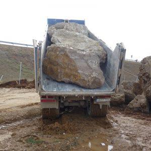 movimiento de piedras