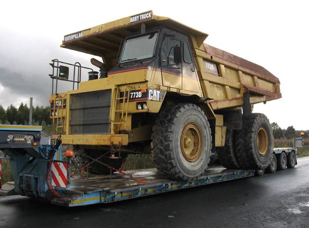 Transporte de maquinaria de obra pública Palencia